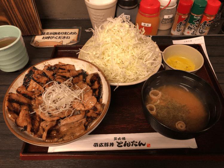 豚丼並+豚丼セット@とんたん 戸越