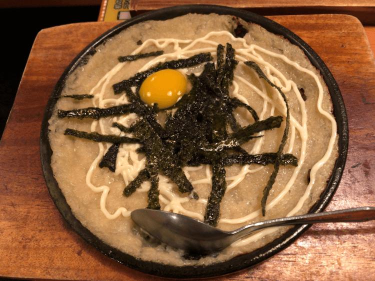 ふんわり山芋の鉄板焼@鳥貴族 戸越銀座店