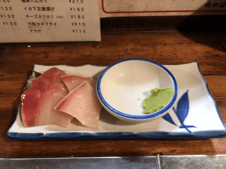 ブリ刺し 310円@晩杯屋 大井町店