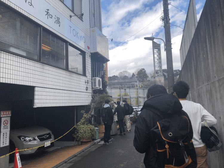 中華そば 和渦TOKYOの行列 2020.12.30