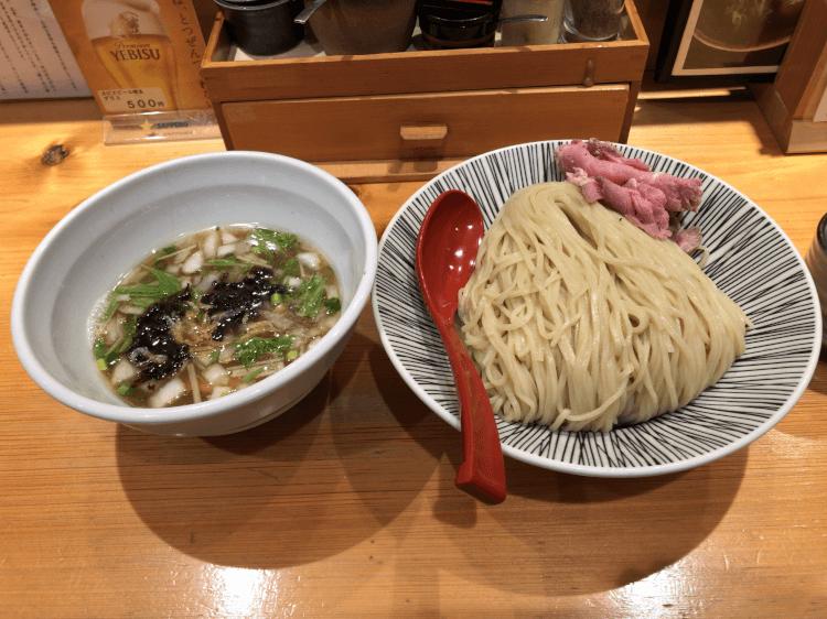 塩つけ麺@焼きあご塩らー麺 たかはし 上野店