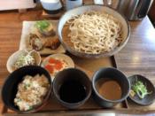 うどんと惣菜のセット@うどん山長 恵比寿