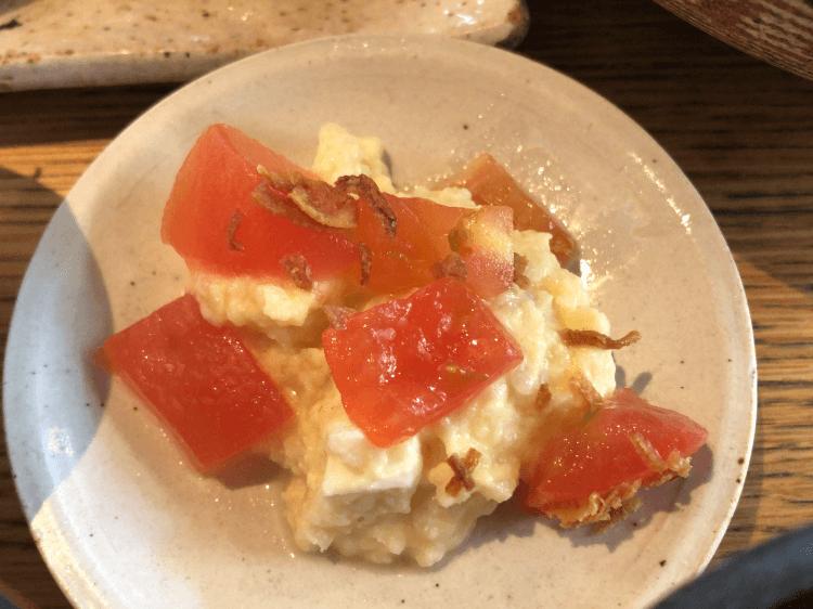 トマトのポテトサラダ@うどん山長 恵比寿