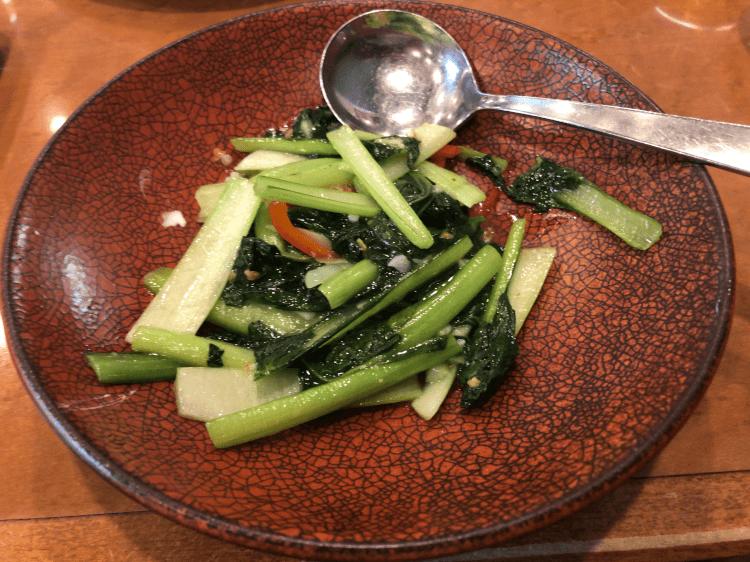 ター菜のガーリック炒め@横浜大飯店