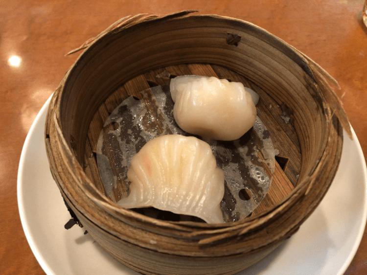 蝦蒸し餃子@横浜大飯店