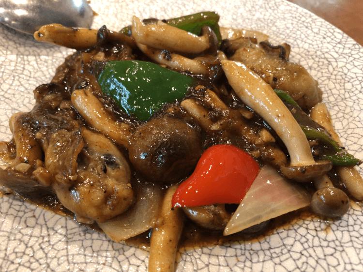 牡蛎のトウチ醤炒め@横浜大飯店