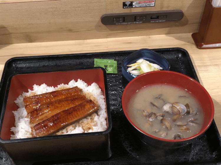 鰻重しじみ汁セット@吉野家 大井町西口店