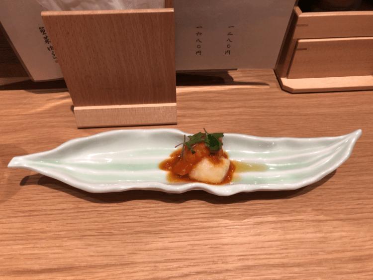 鱧のトマトソースがけ@魚菜由良 雑魚亭 虎ノ門横丁