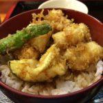 品川駅港南口の運河沿いにある「青田」の穴子丼が美味しかった!